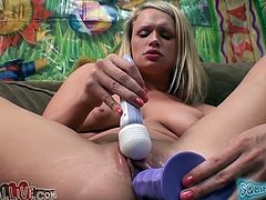 Heather Starlet never gets enough of her pretty pink pussy, and neither do we! In this masturbation video she tickles her pussy with her vibrator. Then she fucks her snatch with her favorite dildo.