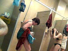 Enjoy nude ladies caught by hidden cam while taking warm showers