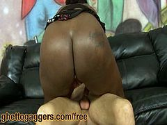 Fucking spunk hungry ebony Porsha Star harshly. Bootleg has some extreme fun with thick black slut Porsha Star. She gets fishhooked and fucked balls deep by his long white rod.