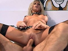 Dreams do come true, just like this horny hunk as he  drills this Voluptuous blonde sensation sweet pussy for hot fun. Watch this couple have amazing sex in several positions