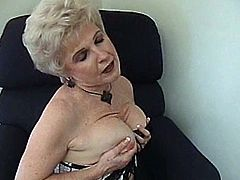 She loves black men and today she is getting one in her place to own his huge cock! Damn, this grandma is so horny and filthy!