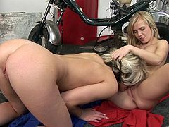 Make sure you have a look at this hot lesbian scene where these gorgeous blondes make you pop a boner as they please each other.