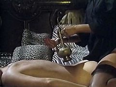 Slutty and attractive asian bitch in nice and sexy dress and with dark hair sits on the guy and makes a massage. Have a look in steamy The Classic Porn xxx clip.