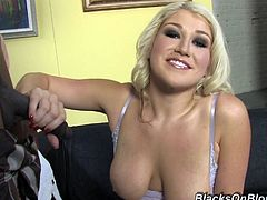 Meanwhile we are in behind the curtain, watching how hot she is at cock sucking. Nikki Phoenix is going to be blowing it with pleasure.