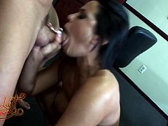 Make sure you have a look at this hardcore scene as you see the busty brunette Savannah Stern being fucked on top of an office desk.