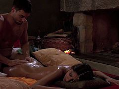 Breath-taking scene of tantric sex featuring Will Steiger and Sahara Knite