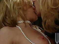 Slutty blondes Jill Kelly and Tracy Love are getting naughty with some man in FFM scene. They please the dude with a blowjob and then get amazingly fucked in many positions.
