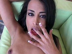 Watch this sexy amateur Latina nympho Layla Sin.This hot booty Latina babe strips her clothes off and sucks that big cock , then she bends down and gets that tight cunt fucked hard.