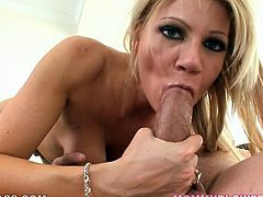 Judging by the way she is sucking on her lover's huge dick you can tell that she is a real pro. Damn, this chick is unstoppable.