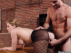 Charles Dera admires yummy Lily LaBeaus body before she takes his boner in her love hole
