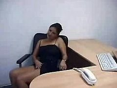 Laura Playing Naked in the Office Costa Rica Girl
