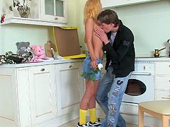Tasty Blonde Goes Hardcore In The Laundry Room With A Horny Dude