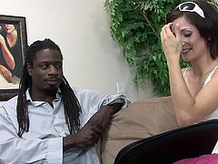 Check out this hardcore interracial scene where the slutty Petra Davis has her tight asshole drilled by this guy's black monster cock.