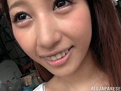 A beautiful Japanese girl drops to her knees. This Asian cutie gives a blowjob & handjob combo. This playful babe demonstrates great sucking skills.