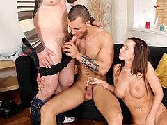 Cindy Dollar fucks hard with nasty gays