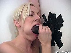 She is such a filthy one that is going to have some fun on that hard cock! She takes it in her mouth and starts moaning so loud.