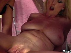 Rapacious blond haired filth with big droopy titties lied in mish position and went crazy about that hard fisting her brunette bitch presented to her. Have a look at that kinky lesbian sluts in Porn XN sex clip!