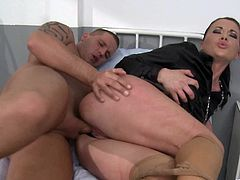 Make sure you have a look at this hardcore scene where the horny doctor Cindy Hope is fucked by a patient after making his dick hard.