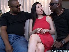 That's going to be an interracial threesome. In another words a hardcore double penetration. She hadn't had two black men at a time.