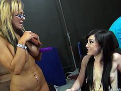 These insanely horny lesbians are in love. There's so much passion between them that's unbelievable. Press play and enjoy the show!