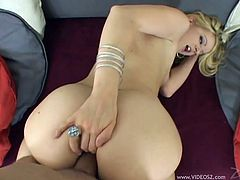 Get a load of Anita Blue's amazing body in this hardcore POV where this slutty blonde sucks on a big cock before being fucked in the ass.