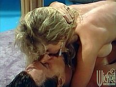 Take a look at this vintage video where the busty blonde Shayla La Veaux has her tight asshole drilled by this guy's thick cock before her big tits are covered by this guy's warm cum.