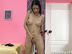 A slutty ass fuckin' bitch performs a nasty ass fuckin' solo scene right here in this video, hit play and check it out right here!