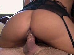 Light haired filthy bitch in sexy crotchless panties posed doggy style and got buttonfucked hard. A bit later she had to suck that sloppy staff cock. Watch that dirty Italian MILF in Pinko HD sex clip!