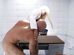 Rikki Six with juicy jugs gives unbelievable sexual pleasure to horny dude Johnny Sins