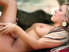 Outdoor sex always made busty Cameron Dee to feel amazing and moan like a true slut