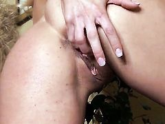Alicia Secrets with big boobs and trimmed pussy shows nice solo tricks with her new dildo