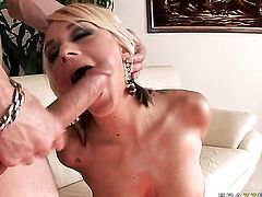 Criss Strokes uses his stiff worm to bring Briana Blair with huge tits to the height of pleasure