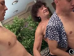 Make sure you don't miss this horny grandma blowing big meaty cock like a real champ. She knows how to make this dude happy and wants even to drink his load.
