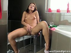 She is a babe with desires and her pussy is gonna get wet and itchy! Honey gets naked and starts tickling herself with this toy.