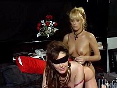 Take a look at this hot lesbian scene where these horny ladies make you pop a boner as they please each other.