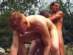 These gays blowjobs themselves while in the pool.  Wet and wild interracial gay group sex. All gays have big dicks!