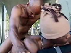 Two ebony poofters are having a good time together. They make out and have oral sex and then one of them drives his boner into his buddy's butt and pounds it from behind.
