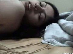 Young Indian bitch works with cock like an experienced whore