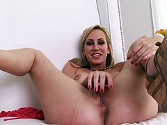 A gorgeous fuckin' slut spreads her fuckin' legs and fingers her stupid fuckin' snatch for the camera, hit play and check it out right here!