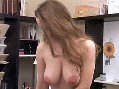Redhead milf midori showing her tits and pussy