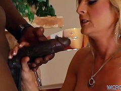 Sindy Lange was always curious if it's true that black guys got enourmous cocks. Well, it was true and she had to take his big dong in her cunt!