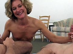 Take a look at this hardcore scene where this horny mature blonde Bianca is fucked by this guy as you hear her moan out loud.