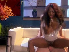 Check out this passionate hardcore scene where the sexy ebony babe Jada Fire is fucked by this guy as you cannot take your eyes off her big natural breasts.