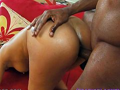Exotic babe Bella Moretti gets her muff pounded by BBC