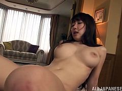 Pretty Azumi Kinoshita gets banged in her hot pussy in a bedroom