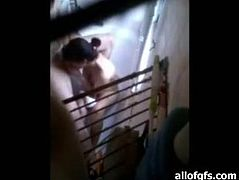 Slutty dark haired Indian babe with awesome body gives a great blowjob to her BF in the bathroom. Have a look at this bitch in The Indian Porn sex video.