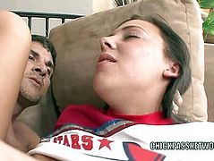 Teen hottie Ivy Winters is banging an older dude