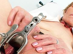 Things are pretty nasty for greedy old nurse in heats who's eager to stimulate her cramped cunt