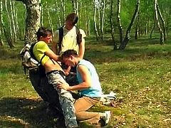 Hot young boys in their sizzling outdoors adventure as they fuck sweet ass for sizzling camping threesome fun.