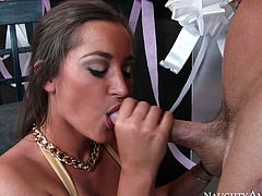 Bootyful bombshell Dani Daniels gets banged hard by Johnny Sins